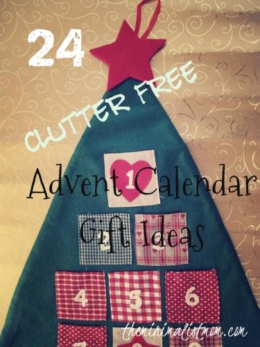 Advent Calendar Ideas For Girls : Clutter free advent calendar gift ideas the
