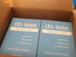 GIVEAWAY: Do Less is now available!