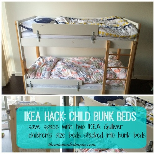 Toddler Size Bunk Beds Space Saving With Kids The Minimalist Mom
