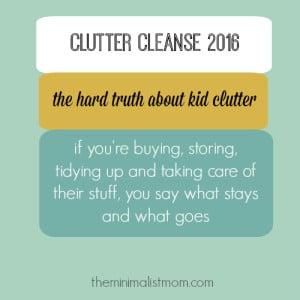 Week 4: Kid Clutter
